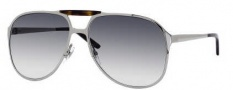 Gucci 2206/S Sunglasses Sunglasses - 06LB Ruthenium (44 Dark Gray Gradient Lens)