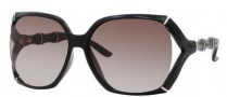 Gucci 3508/S Sunglasses Sunglasses - 0D28 Shiny Black (HA Brown Gradient Lens)