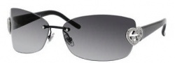 Gucci 4201/S Sunglasses Sunglasses - 0BKS Black Shiny (PT Gray Gradient Lens)