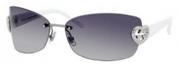 Gucci 4201/S Sunglasses Sunglasses - 0HFW Ruthenium White (VK Gray Gradient Lens)