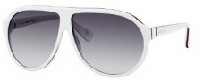 Gucci 5000/C/S Sunglasses Sunglasses - 0GRL White Blue Red (JJ Gray Gradient Lens)