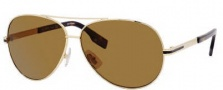 Hugo Boss 0397/P/S Sunglasses Sunglasses - 0DZ0 Gold Black (VW Brown Polarized Lens)