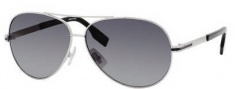 Hugo Boss 0397/P/S Sunglasses Sunglasses - 0TWR Palladium Black (WJ Gray SHPolarized Lens)