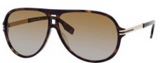 Hugo Boss 0398/P/S Sunglasses Sunglasses - 0ANT Dark Havana Gold (M4 Brown Gradient Lens)