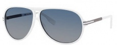 Hugo Boss 0398/P/S Sunglasses Sunglasses - 0MOL White Dark Ruthenium (ND Blue Gradient Lens)