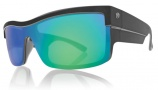 Electric Shotglass Sunglasses Sunglasses - Matte Black / Grey Green Chrome