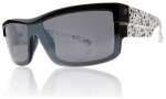 Electric Shotglass Sunglasses Sunglasses - Black Splatter / Grey Chrome