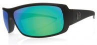 Electric Charge Sunglasses Sunglasses - Matte Black / Grey Green Chrome Lens
