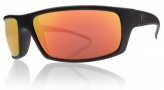 Electric Technician Sunglasses Sunglasses - Matte Black / Grey Fire Chrome Lens