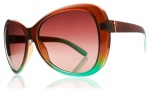Electric Magenta Sunglasses Sunglasses - Brown Mint Fade / Brown Gradient Lens