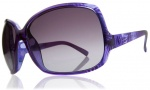 Electric Lovette Sunglasses Sunglasses - Havana Purple / Grey Gradient Lens