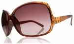 Electric Lovette Sunglasses Sunglasses - Havana Gold / Brown Gradient Lens