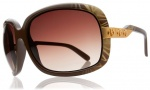 Electric Hightone Sunglasses Sunglasses - Havana Brown / Brown Gradient Lens