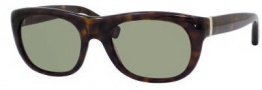 Yves Saint Laurent 2304/S Sunglasses Sunglasses - 0086 Dark Havana DJ Green Lens