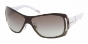 Ralph by Ralph Lauren RA4026 Sunglasses Sunglasses - 192/11 Matte Silver / White Marble Gray Gradient