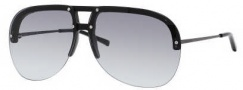 Yves Saint Laurent 2318/S Sunglasses Sunglasses - 0B2X Black Semi Matte Ruthenium / JJ Gray Gradient Lens