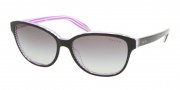 Ralph by Ralph Lauren RA5128 Sunglasses Sunglasses - 960/11 Black Purple Stripes / Gray Gradient