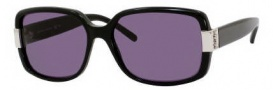 Yves Saint Laurent 6300/S Sunglasses Sunglasses - 0807 Black / Y1 Gray Lens