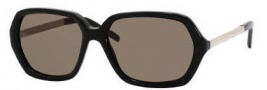 Yves Saint Laurent 6322/S Sunglasses Sunglasses - 0RHP Black Light Gold / NR Brown Gray Lens