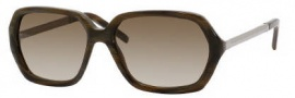 Yves Saint Laurent 6322/S Sunglasses Sunglasses - 0H70 Horn Walnut Ruthenium / CC Brown Gradient Lenss
