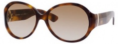 Yves Saint Laurent 6326/S Sunglasses Sunglasses - 005L Havana / 81 Brown Gray Gradient Lens