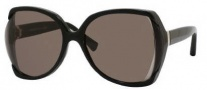 Yves Saint Laurent 6328/S Sunglasses Sunglasses - 0807 Black / NR Brown Gray Lens