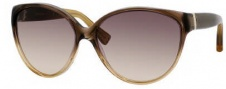 Yves Saint Laurent 6336/S Sunglasses Sunglasses - 0D5N Brown Oranage Amber / ED Brown Gradient Lens