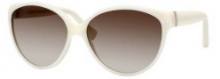 Yves Saint Laurent 6336/S Sunglasses Sunglasses - 0Z0M Ivory / CC Brown Gradient Lens