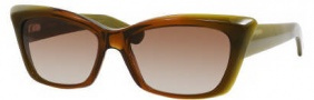 Yves Saint Laurent 6337/S Sunglasses Sunglasses - 0AV7 Brown Green Shiny / JD Brown Gradient Lens