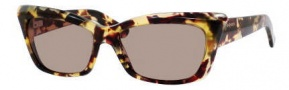 Yves Saint Laurent 6337/S Sunglasses Sunglasses - 0QR2 Light Havana / 6J Brown Lens