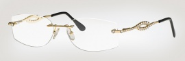 Caviar 2328 Eyeglasses  Eyeglasses - 16 Brown W/ Clear Crystal Stones