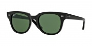 Ray-Ban RB4168 Sunglasses Sunglasses - 601 Shiny Black / Crystal Green