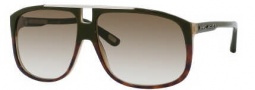 Marc Jacobs 252/S Sunglasses Sunglasses - 00J2 Green Havana (DB Brown Gray Gradient Lens)