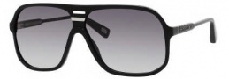 Marc Jacobs 344/S Sunglasses Sunglasses - 0807 Black (JJ Gray Gradient Lens)