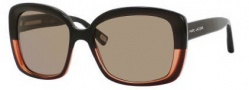 Marc Jacobs 349/S Sunglasses Sunglasses - 0U4Q Black Gray / Black (X7 Brown Lens)