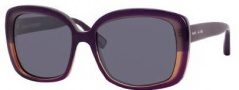 Marc Jacobs 349/S Sunglasses Sunglasses - 045Y Plum Gray Horn (4X Black Mirror Lens)