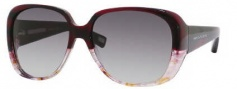 Marc Jacobs 362/S Sunglasses Sunglasses - 0l34 Burgundy Spotted Marble (BD Dark Gray Gradient Lens)