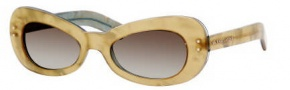Marc Jacobs 366/S Sunglasses Sunglasses - 0lT0 Yellow Pearl (YR Green Gradient Lens)