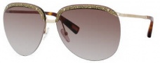Marc Jacobs 391/S Sunglasses Sunglasses - 0AOZ Semi Matte Gold (JD Brown Gradient Lens)