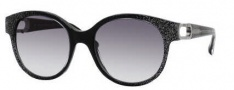 Jimmy Choo Allium/S Sunglasses Sunglasses - 0M45 Black Glitter (JJ Gray Gradient Lens)