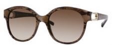 Jimmy Choo Allium/S Sunglasses Sunglasses - 0BN2 Zebra Brown (JD Brown Gradient Lens)