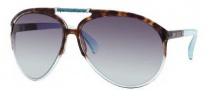 Jimmy Choo Aster/S Sunglasses Sunglasses - 0AG2 Havana Aqua (5M Gray Gradient Aqua Lens)