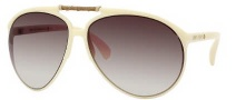 Jimmy Choo Aster/S Sunglasses Sunglasses - 0AGV Ivory (02 Brown Gradient Lens)