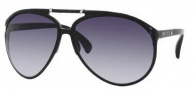 Jimmy Choo Aster/S Sunglasses Sunglasses - 0D28 Shiny Black (JJ Gray Gradient Lens)