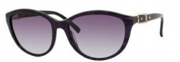Jimmy Choo Cecy/S Sunglasses Sunglasses - 0ZP0 Dark Purple Snake (AA Burgundy Mirror Gradient Lens)