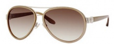 Jimmy Choo Chirs/S Sunglasses Sunglasses - 0WUM Beige Gold (JD Brown Gradient Lens)