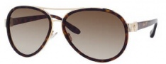 Jimmy Choo Chirs/S Sunglasses Sunglasses - 0ANT Dark Havana (CC Brown Gradient Lens)