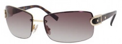 Jimmy Choo Elisa/S Sunglasses Sunglasses - 0APQ Gold Dark Havana (JD Brown Gradient Lens)
