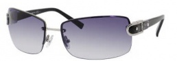Jimmy Choo Elisa/S Sunglasses Sunglasses - 0YBL Ruthenium Silver Black (JJ Gray Gradient Lens)