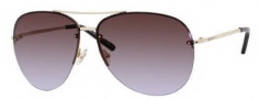 Jimmy Choo Fran/S Sunglasses Sunglasses - 0J5G Gold (27 Brown Violet Shaded Lens)